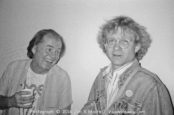 Tom Murrin and Jim Tuner at Dixon Place in 1989.