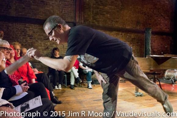 Brian Moran does an improv dance piece.