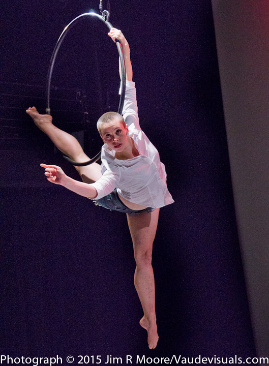 Kira performs a beautiful aerial act.
