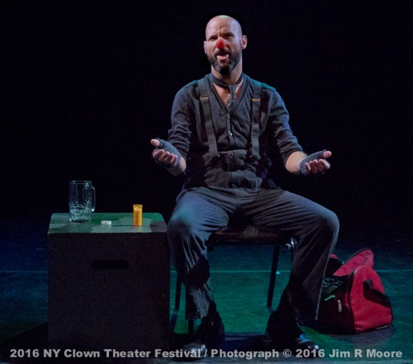 Joe Galan performs at the 2016 NY Clown Theater Festival