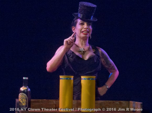 Tanya Solomon performing at NY Clown Theater Festival