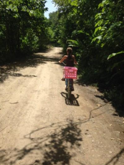Shorty on bike