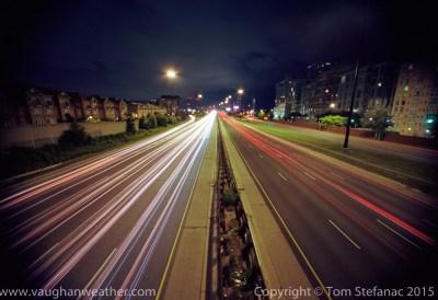 The gardiner expressway in Toronto after a 35 second exposureusing Kodak Ektar 100