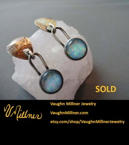 Opal Earrings in Gold and Silver