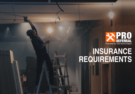 Home Depot Pro Referral Insurance Requirements