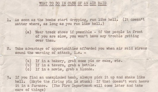 What To Do In Case Of An Air Raid