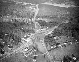 Aerial Photograph of Fairfax Circle, 1953