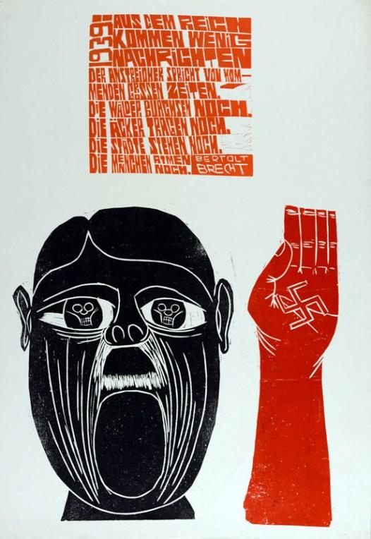 """""""Aus dem Reich kommen wenig Nachrichten"""",East German poster collection # C0169, AE-1825, Special Collections Research Center, George Mason University Libraries."""