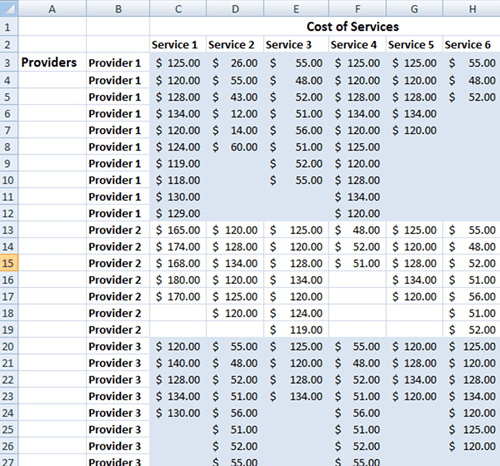 pricing model in excel