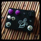 The Bee Box - 2 channels, 7 gain stages. Loud, proud and glitchy. Also has a bee on it.