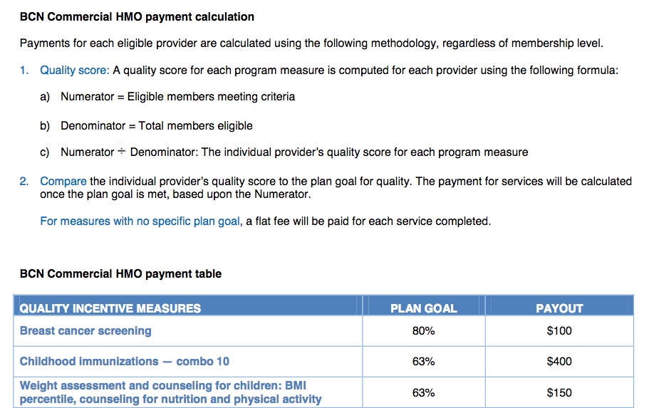 The $400 childhood immunization payout.