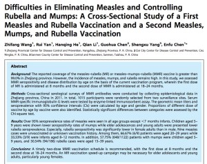 A study in PLOS did not find massive outbreaks of measles in China despite high vaccination rates.