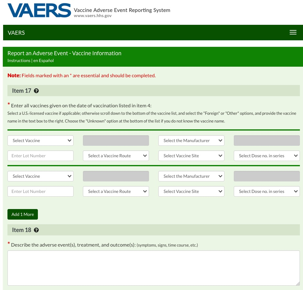 Vaccine side effects can be reported to VAERS online or using a downloadable form.