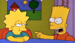 An unvaccinated Lisa gets the mumps.
