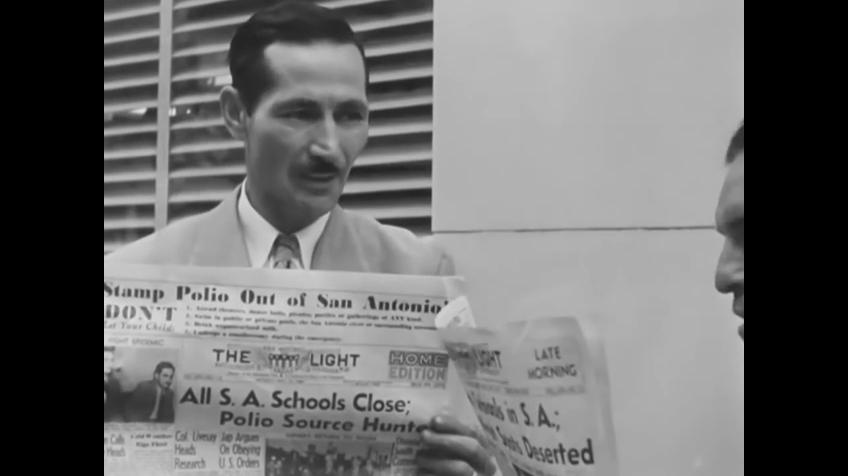 Even the schools were closed in San Antonio when polio came to Texas in 1946.