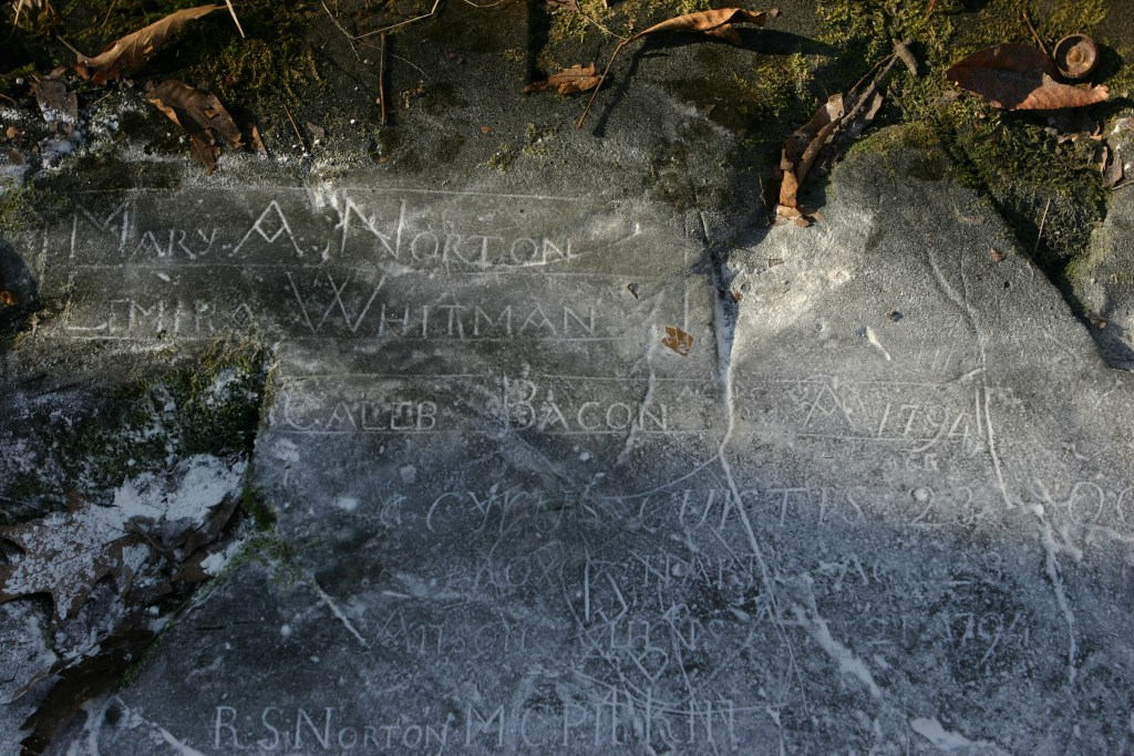 Patients engraved their name on Hospital Rock in the late 1700s near Farmington.