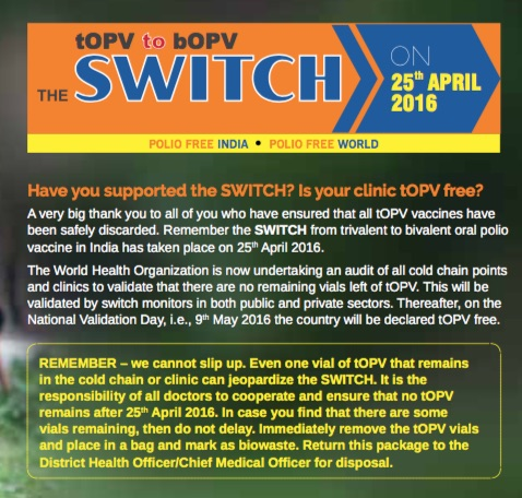 A dose of IPV is the backup plan to make sure a problems with the switch to bOPV doesn't end up in a tragedy.
