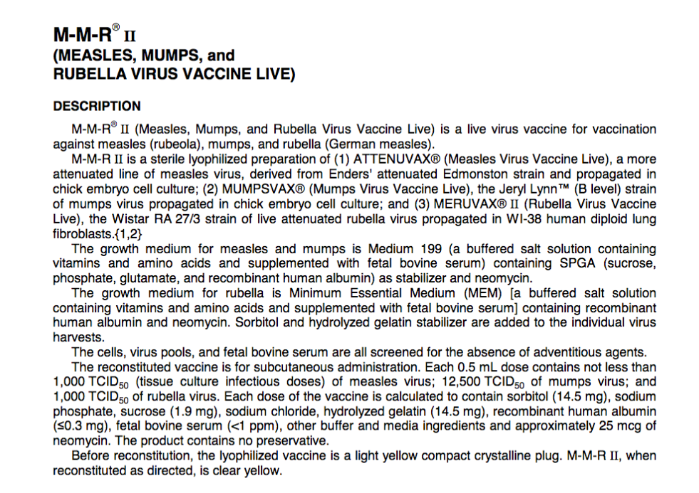 Vaccine ingredients are not hard to find.