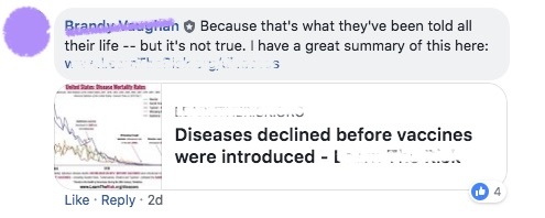 It is with her summary that says you can treat cancer naturally and without chemotherapy.