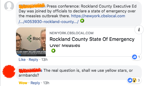 How about we make folks who push anti-vaccine misinformation wear dunce caps?