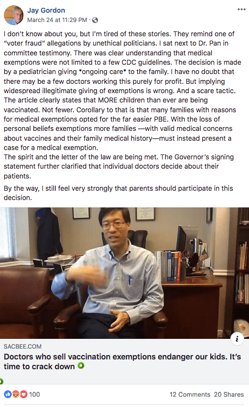 Who are the doctors handing out fake medical exemptions in California?