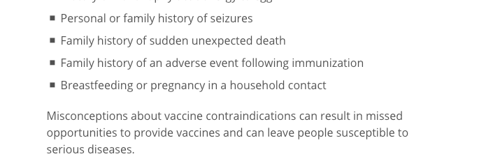 These are among the common conditions that the AAP says should NOT delay vaccination and which are often mistakenly thought to qualify someone for a medical exemption.