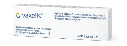 Vaxelis is a 6-in-1 combination vaccine.