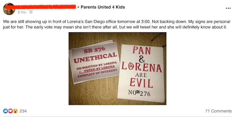 Protecting kids from vaccine preventable diseases is unethical and evil???