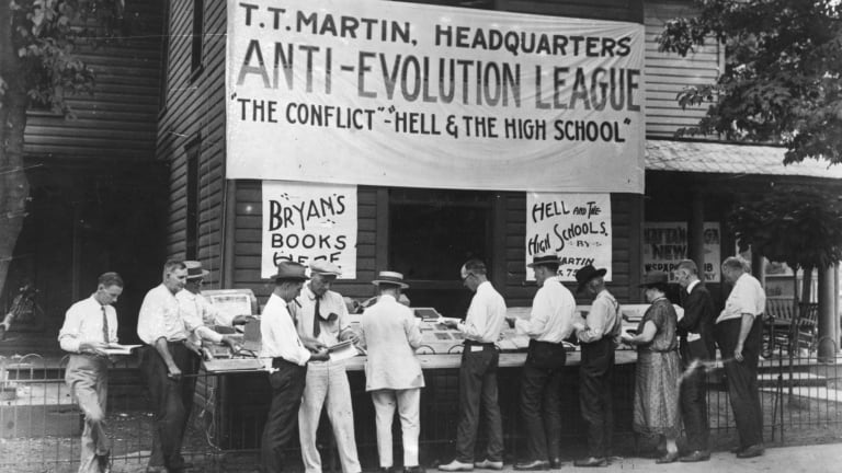 Debating science in the court room got us The State of Tennessee v. John Thomas Scopes or the Scopes Monkey Trial, which made it unlawful to teach evolution in schools.