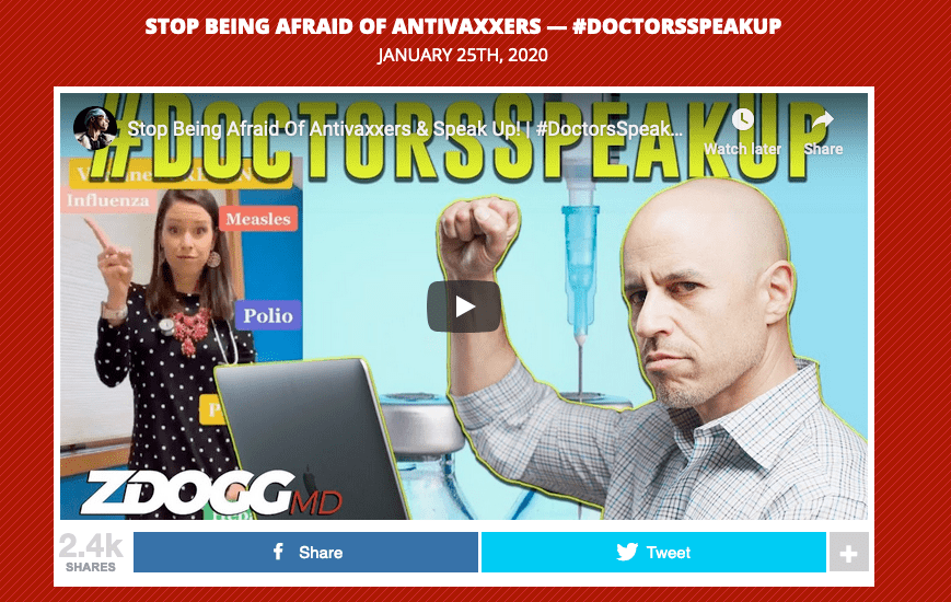 You don't have to wait for #DoctorsSpeakUp day to advocate for vaccines.