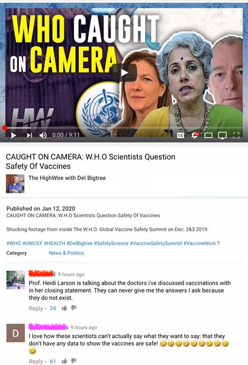 Did Del Bigtree catch scientists from the WHO questioning the safety of vaccines at the Global Vaccine Safety Summit?