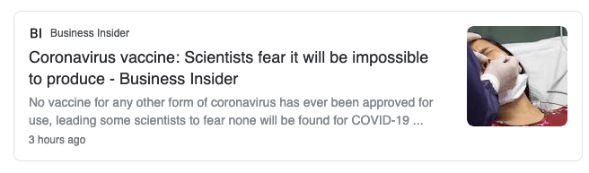 No vaccine was ever approved for other types of cornonaviruses because even though they were made, they never got funding to undergo testing and development!