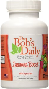 Dr. Bob Sears sold immunity boosting pills that contained Echinacea, Black Pepper, and Elderberry, with Zinc, and high dose vitamin A, vitamin C, and vitamin D.