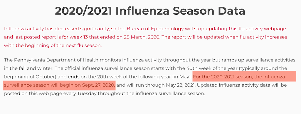 Why are you looking for flu reports in September?