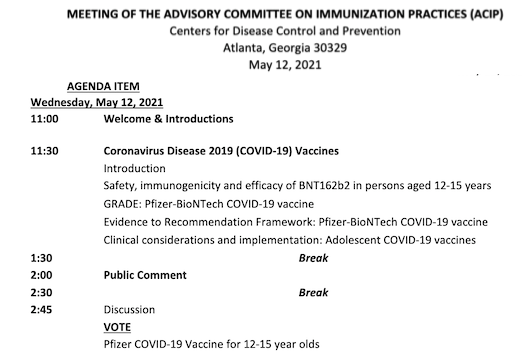 After the FDA decision on the EUA, then the ACIP will vote on the new age indication.