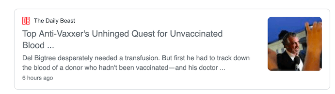 Del Bigtree has received millions to promote his anti-vaccine agenda and when he recently got sick, he flew to Mexico for unvaccinated blood.