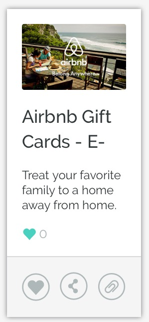 Airbnb e-Gift Card