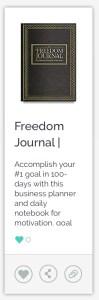 Freedom Journal 100-Day Goal Planner