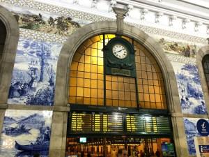 Tiled Train Station in Porto, Portugal