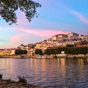 Sunset in Coimbra, Portugal