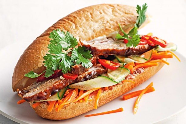 Image result for banh mi egg pork
