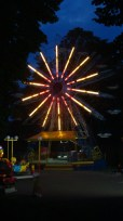 The same Ferris Wheel from 60s or 70s, with rapidly changing gears, rather scary noises and, of course, no seat-belts