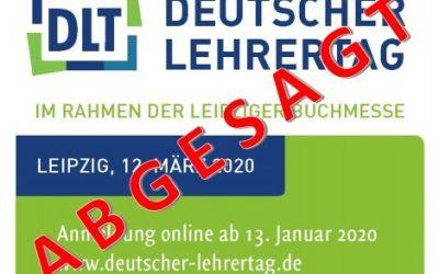 Absage des Deutschen Lehrertages