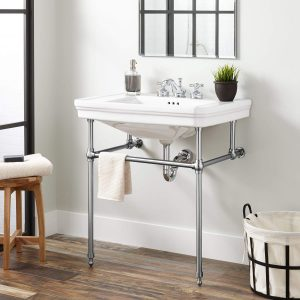 bathroom console sinks with metal legs