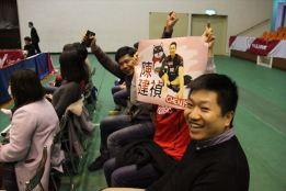 パナソニックの陳(2017年12月3日、試合観戦に訪れた東京在住の台湾人たち。ヴォレアス北海道はVチャレンジⅡだったが応援にしてきていた)_R