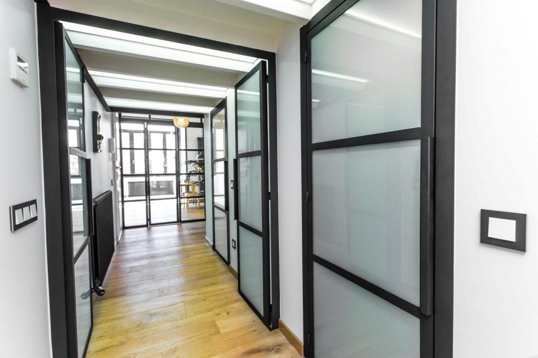 puerta estilo industrial