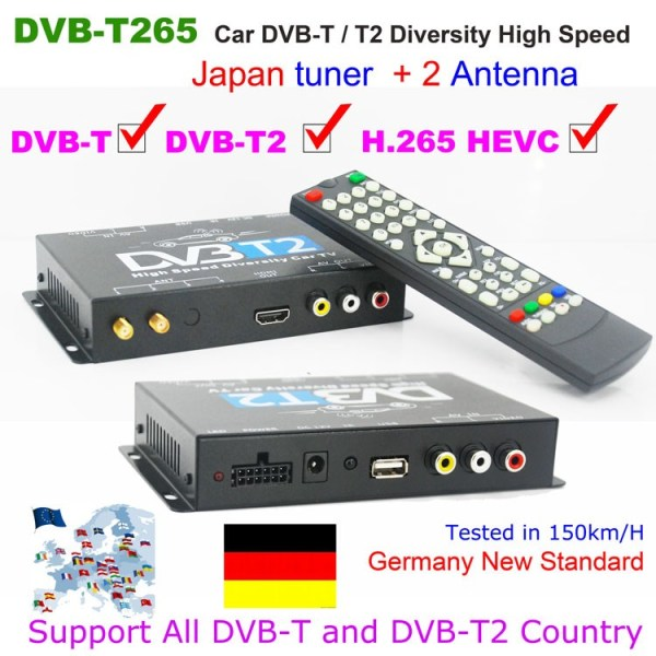 Germany Car DVB-T2 H265
