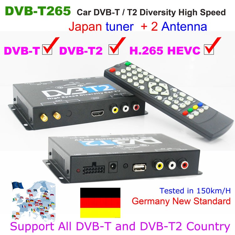 Germany Car DVB-T2 H.265 HEVC