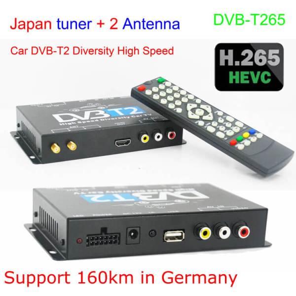 Germany DVB-T2 H 265 HEVC Codec New Model DVB-T265 auto mobile digital car  dvb-t2 tv receiver