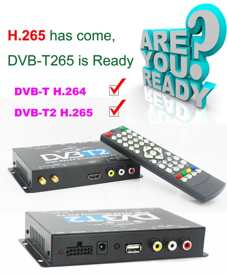 DVB T265 HEVC Germany italy czech slovakia car dvb t2